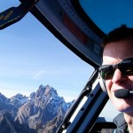 Richard Gower flying helicopter recent photo