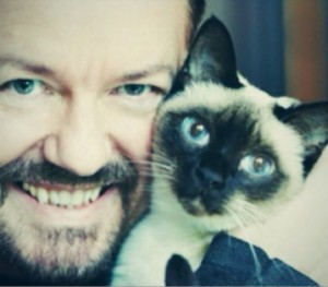 Ricky Gervais avid animal lover